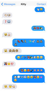 emoji text cats and dogs talk to each other in emoji