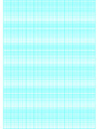 Printable Semi Log Paper 120 Divisions 5th 10th Accent By 6 Cycle
