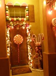 front door to our outdoor gingerbread house