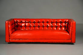 tufted red leather sofa at 1stdibs with regard to red leather sofa red leather sofa