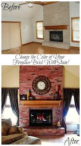 change the color of your fireplace brick with stain fireplace brick