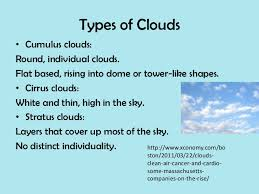 Types Of Clouds Ppt Clouds And Percipitation Powerpoint