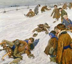 Зимние забавы с историей в несколько тысяч лет Первый Музей  Александр Моравов Зимний спорт 1913 г