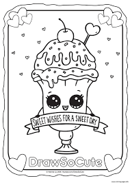 Cupcake Draw So Cute Coloring Pages Printable And For Kids Wumingme