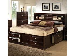C0172 King/California King Storage Bed w/ Bookcase Headboard by Alex Express Life at Northeast Factory Direct