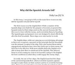 why did the spanish armada fail gcse history marked by  document image preview