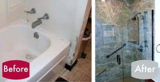 replace tub with walk in shower outstanding central pa bathroom remodeling before after bath remodel throughout