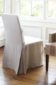 ikea dining chairs slipcovers henriksdal linen slipcover with long skirt in lino brushed