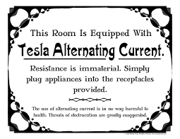 alternating current examples appliances. mechanical electrical medium size this room is equipped with tesla alternating current wesley sign png. examples appliances