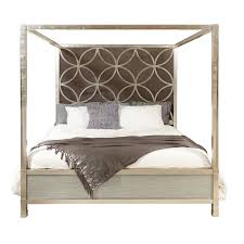 HomeFare Velvet Quatrefoil Canopy Bed | Products | Queen canopy bed ...
