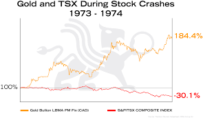 Gold Stock Index Chart Gold And Tsx During Stock Crashes