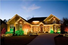 lighting for house. Christmas Lighting For Residence And Lawn House