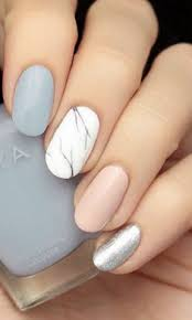 Make Spring Come Early With Pastel Marble Nails Nails Nápady