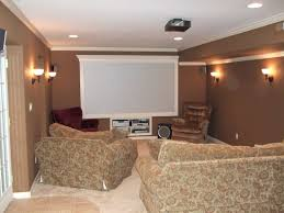 best basement lighting. Attractive Basement With Wall Sconces And Recessed Lights Best Lighting