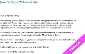 Welcome Letter Template New Hire Welcome Email Template New Employee Welcome Letter