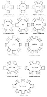 dining room table size for awesome round diameter person x sizes