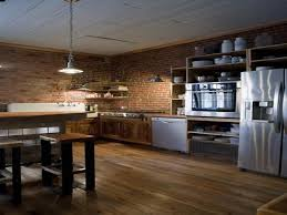Exposed Brick Kitchen Kitchen Exposed Brick Walls Modern Kitchens Interior Design With