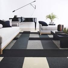 carpet tile pattern ideas. Living Room : Awesome Carpet Decorating Ideas With Black White Wool Tile Pattern