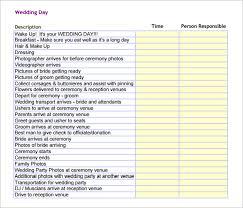 Wedding Day Timeline Excel 19 Wedding Schedule Templates Psd Pdf Doc Xls Free