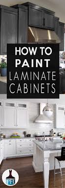 learn how to paint laminate cabinets with a professional look