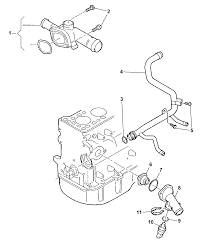 2009 dodge caliber thermostat related parts diagram i2223280