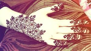 Saudi Arabia Henna Designs Arabic Rose Saudi Arab Style Mehndi Design Full Hand Look