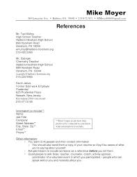 Resume References Template Professional Curriculum Vitae References