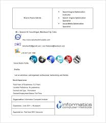 seo freelancer resume free word template media resume template