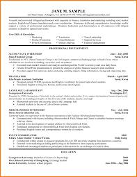 Internship Resume Examples 100 internship resume examples Essay Checklist 24