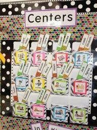 Center Rotation Chart For The Classroom Classroom