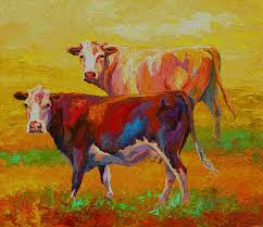 wall art picture abstract modern oil painting on canvas by numbers animals two cows for home on two cows canvas wall art with wall art picture abstract modern oil painting on canvas by numbers