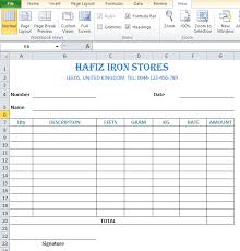 Sample Cash Memo For Iron Store In Excel Top Docx