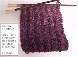 Ribbed Scarf Pattern Interesting CrazyAuntPurl Mistake Rib What A Difference A Gauge Makes
