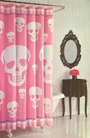 pink fabric shower curtain crazy skulls shower curtain pink white purple fabric pink mold fabric shower