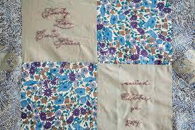 Wedding Signature Quilt — Carrie Strine & Wedding Signature Quilt (in progress October 2014), machine pieced and hand  embroidered. Adamdwight.com