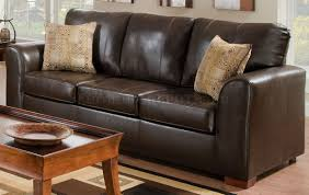 Brown Bonded Leather Match Modern Sofa & Loveseat Set w/Options