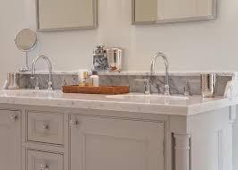 bathroom vanity granite backsplash. Gray Bathroom Vanity With Marble Backsplash Shelf Granite O