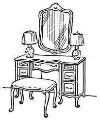 dresser clipart black and white. pin furniture clipart dresser #6 black and white s