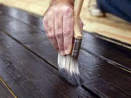 outdoor deck paint or stain. step 6: stain deck with paint pad outdoor or u