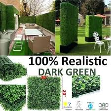 artificial plants wall boxwood hedge grass mat decor privacy