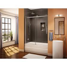 fleurco novara tub enclosure 56 58 x 66 frameless sliding shower door