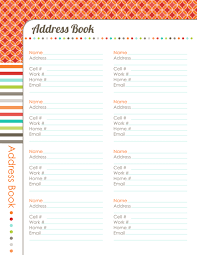 Address Book Template Free 31 Days To A Clutter Free Life Address Book Day 29