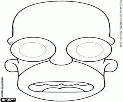 Kleurplaat Het Masker Van Homer Simpson Kleurplaten