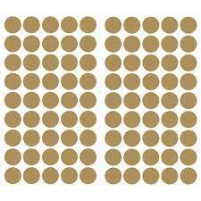 roommates gold confetti dots wall