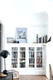 bookcase with glass doors ikea antique wood billy built in small