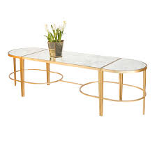 coffee table with antique mirrored tops center zoom