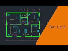 making a simple floor plan in autocad part 1 of 3