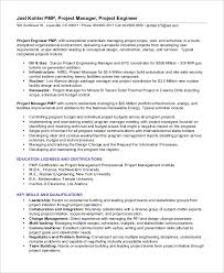 16 free sample project manager resume sample resumes 2016