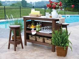 outdoor bar bench table style