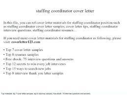 Cover Letter For Staffing Agency – Resume Sample